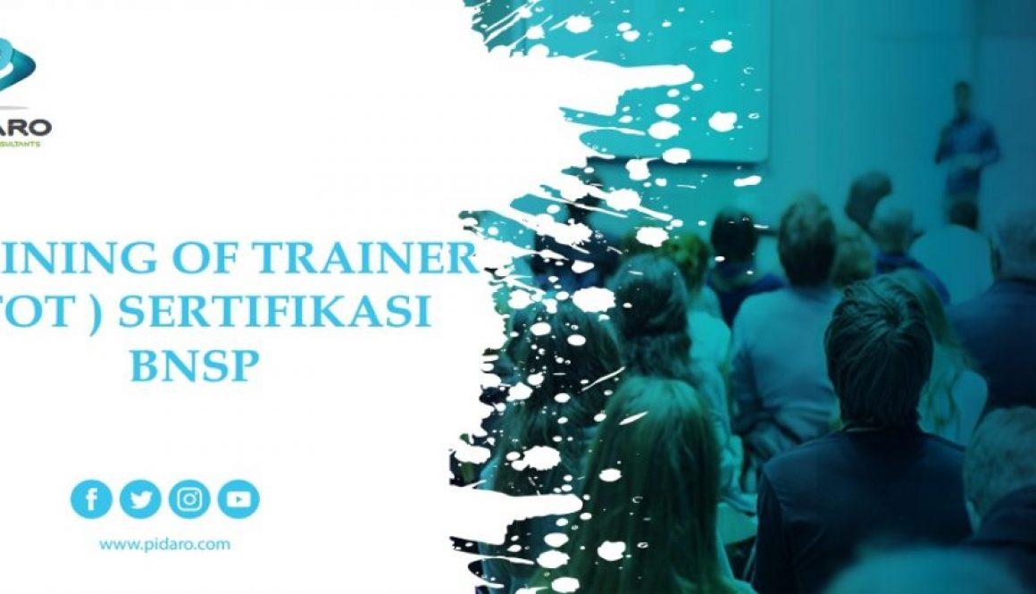 Training TOT Sertifikasi BNSP - Pidaro